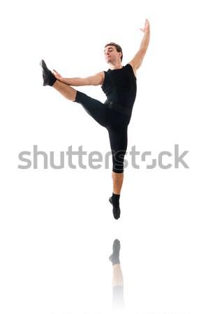 Táncos izolált fehér férfi tánc divat Stock fotó © Elnur