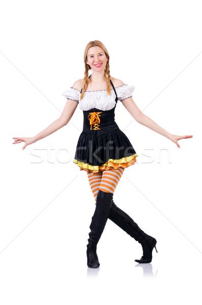 Oktoberfest concept with woman on white Stock photo © Elnur