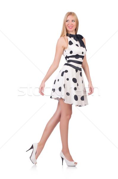 Modèle robe polka blanche fille Photo stock © Elnur