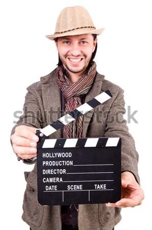 Vaquero aislado blanco arma película vídeo Foto stock © Elnur
