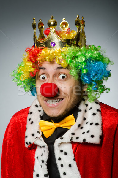Rei empresário engraçado trabalhar executivo retrato Foto stock © Elnur