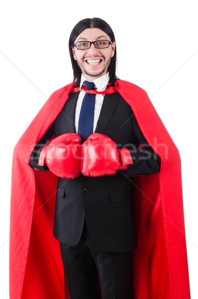 Jóvenes empresario boxeador aislado blanco negocios Foto stock © Elnur