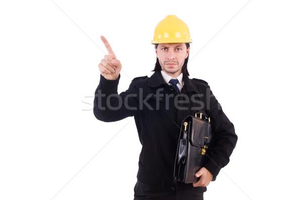 Jovem construção arquiteto isolado branco negócio Foto stock © Elnur