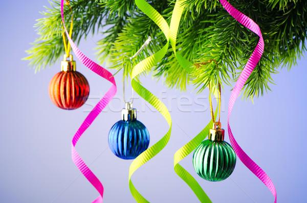 Christmas decoration on the fir tree Stock photo © Elnur