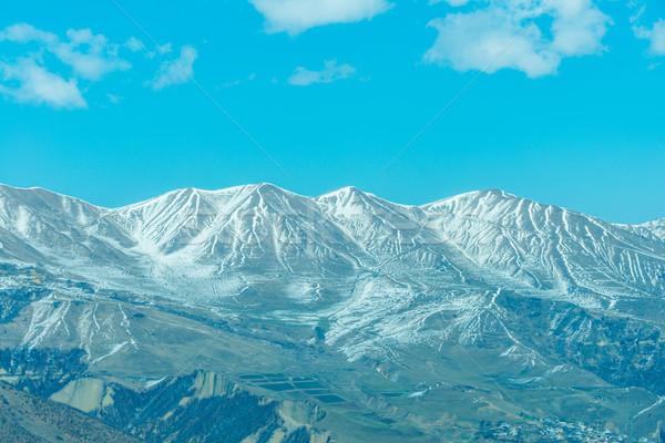 Zimą góry region Azerbejdżan charakter śniegu Zdjęcia stock © Elnur