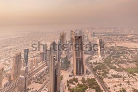 Panorama notte Dubai business ufficio città Foto d'archivio © Elnur