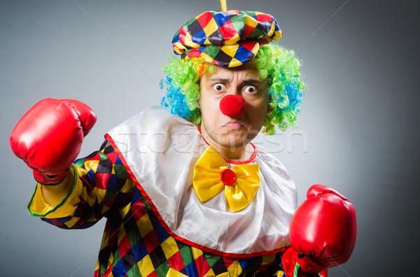Funny clown komiczny uśmiech szczęśliwy sportu Zdjęcia stock © Elnur