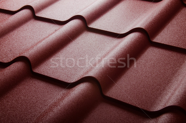Close up of metal roof tile Stock photo © Elnur