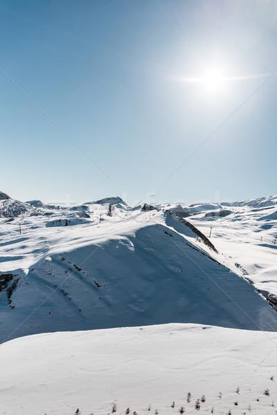 Winter bergen regio Azerbeidzjan hemel landschap Stockfoto © Elnur