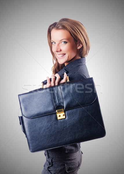 Kobieta interesu teczki biały kobieta dziewczyna szczęśliwy Zdjęcia stock © Elnur