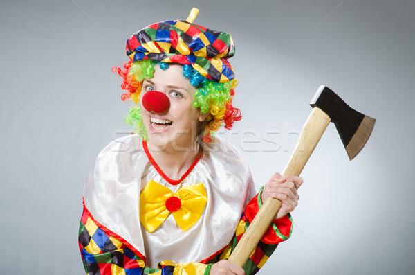 Clown ax divertente felice divertimento rosso Foto d'archivio © Elnur