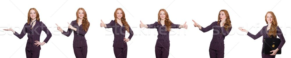 Business lady in various poses isolated on white Stock photo © Elnur
