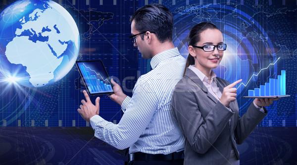 Affaires collaboration ordinateur réunion monde Photo stock © Elnur