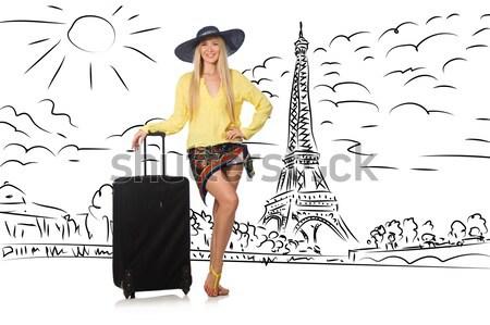 Genç kadın seyahat İspanya görmek familia mutlu Stok fotoğraf © Elnur