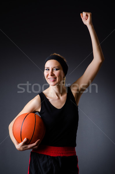 Woman with basketball in sport concept Stock photo © Elnur