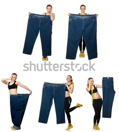 Composite photo of woman in dieting concept Stock photo © Elnur