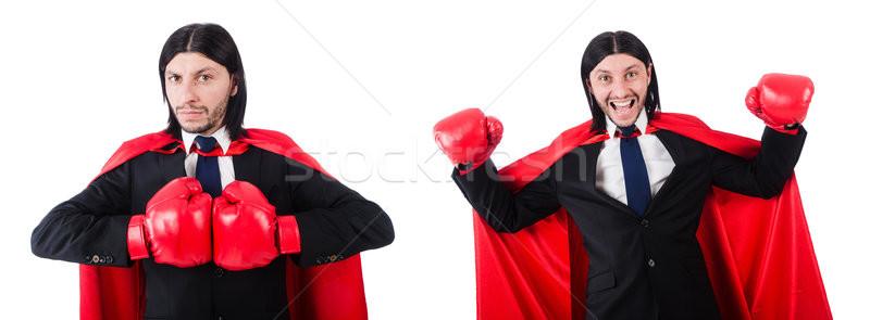 Jovem empresário boxeador isolado branco negócio Foto stock © Elnur