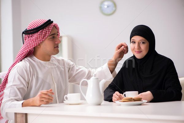 Stock photo: The pair of arab man and woman