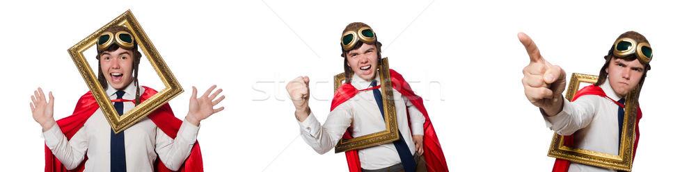 Funny hero isolated on the white Stock photo © Elnur