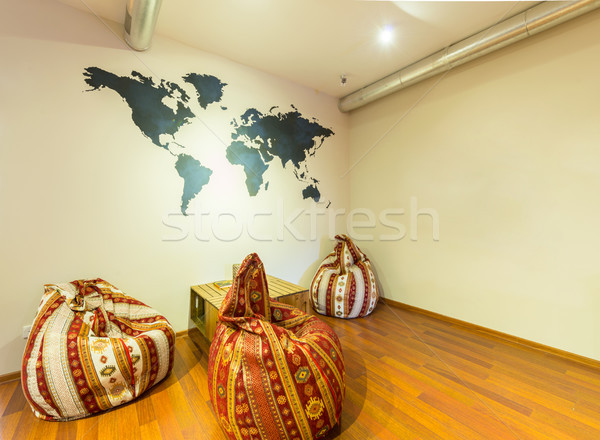 Waiting area in hotel with bean bag chairs Stock photo © Elnur