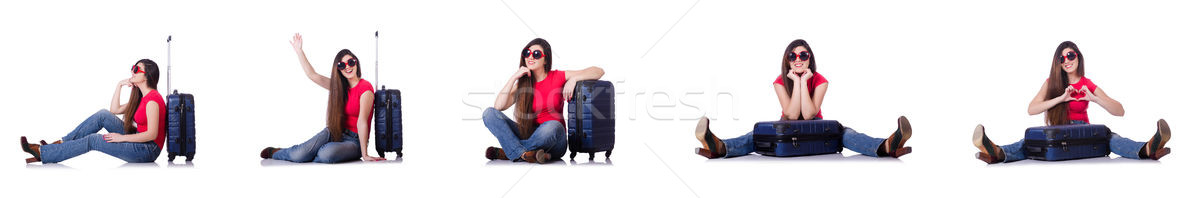 The young woman preparing for summer vacation Stock photo © Elnur