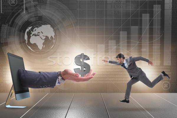 Imprenditore investimento avvio business internet schermo Foto d'archivio © Elnur