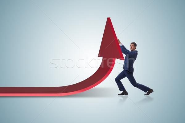 ビジネスマン 経済 グラフ グラフ ビジネス お金 ストックフォト © Elnur