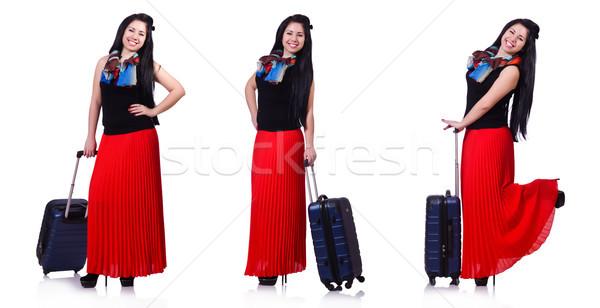 Kadın yaz tatili plaj kız mutlu moda Stok fotoğraf © Elnur