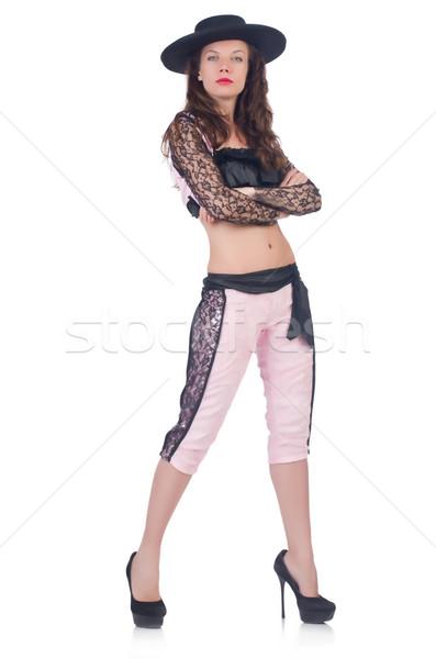 Nő izolált fehér sport halál személy Stock fotó © Elnur