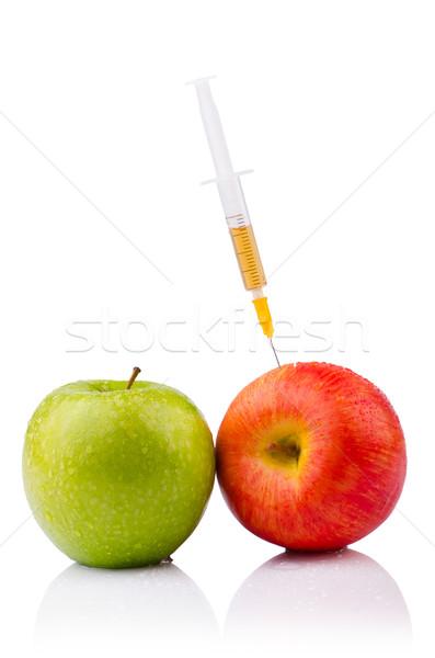 эксперимент яблоко рук природы фрукты здоровья Сток-фото © Elnur