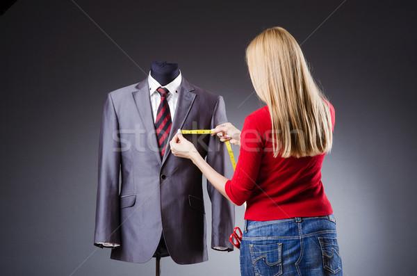 Nő szabó dolgozik ruházat divat munka Stock fotó © Elnur