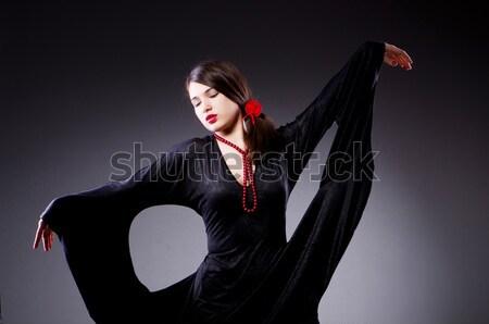 Fiatal vonzó nő tánc flamenco tánc divat Stock fotó © Elnur
