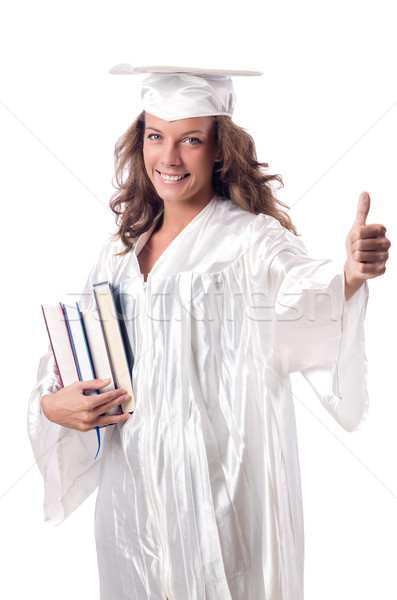 Graduate with book isolated on white Stock photo © Elnur