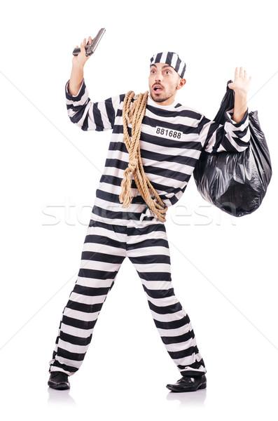 Criminal a rayas uniforme arma ley Foto stock © Elnur