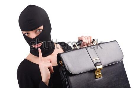 Criminal with gun isolated on white Stock photo © Elnur