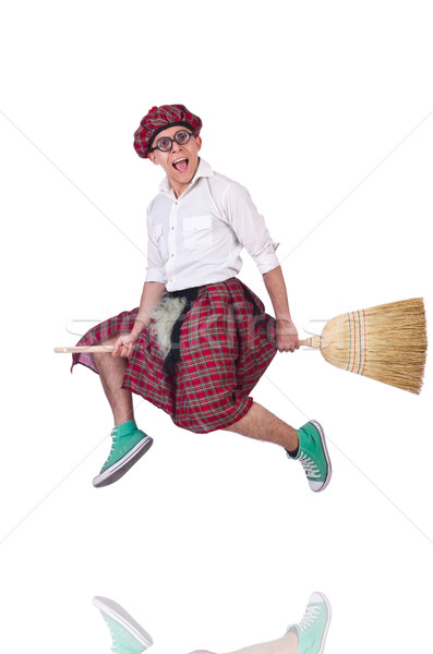 Funny scotsman isolated on the white background Stock photo © Elnur