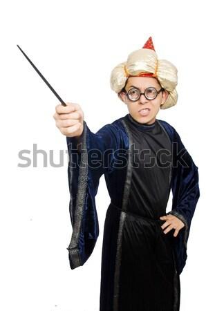 面白い ハンター 着用 サファリ 帽子 男 ストックフォト © Elnur
