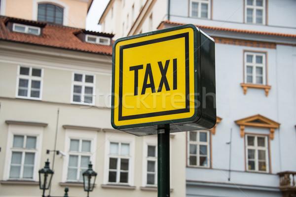 Taxi felirat napfény út város utca Stock fotó © Elnur