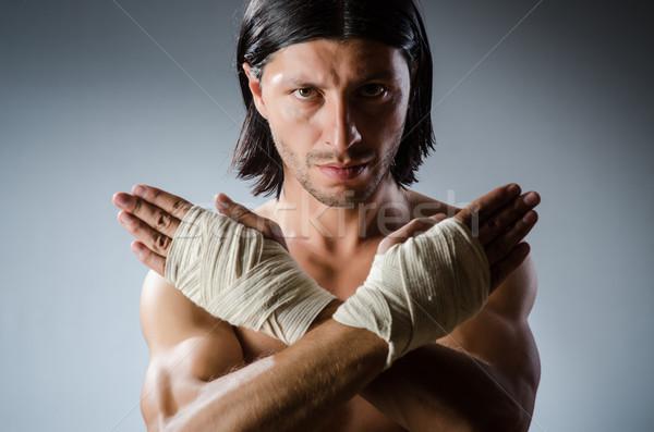 Vechtsporten expert opleiding hand lichaam fitness Stockfoto © Elnur