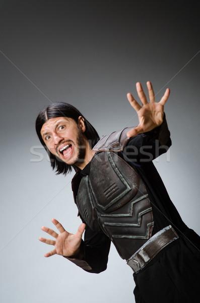 сердиться воин темно человека костюм весело Сток-фото © Elnur