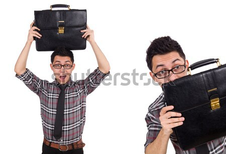 Funny prison inmate with gun Stock photo © Elnur