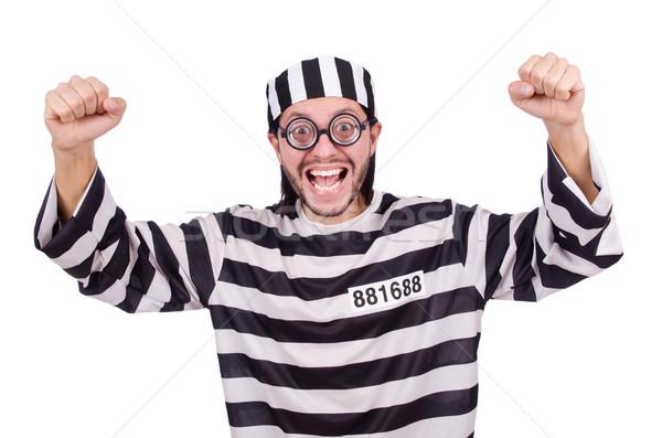 刑務所 受刑者 孤立した 白 眼鏡 ボール ストックフォト © Elnur