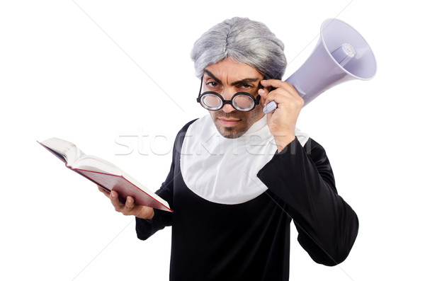 Joven monja aislado blanco hombre Foto stock © Elnur
