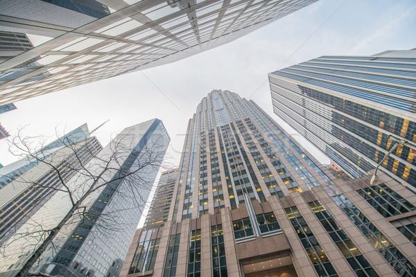 Magas felhőkarcolók lövés nézőpont üzlet iroda Stock fotó © Elnur
