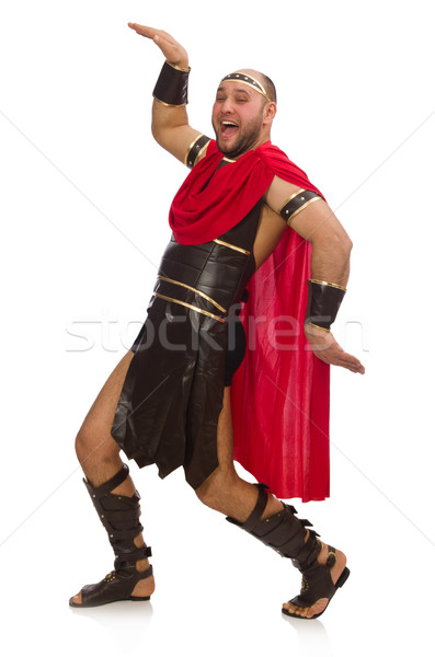 Gladiator geïsoleerd witte man achtergrond dansen Stockfoto © Elnur