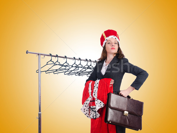 Stock photo: Woman queen in funny concept