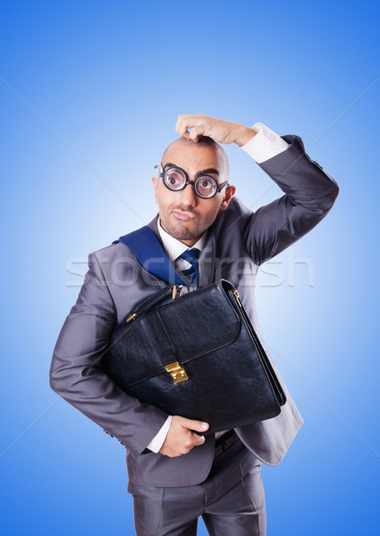 Divertente nerd imprenditore gradiente business sorriso Foto d'archivio © Elnur