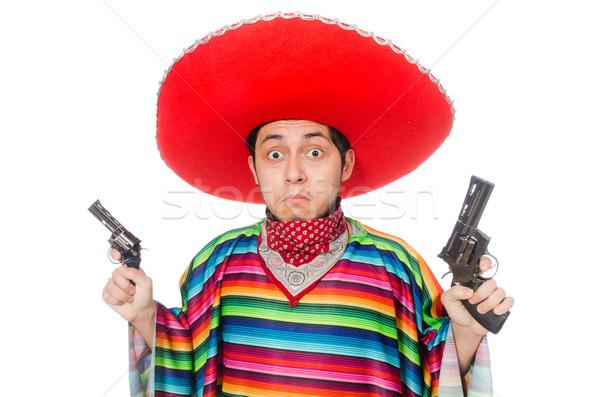 Grappig Mexicaanse wapen geïsoleerd witte hand Stockfoto © Elnur