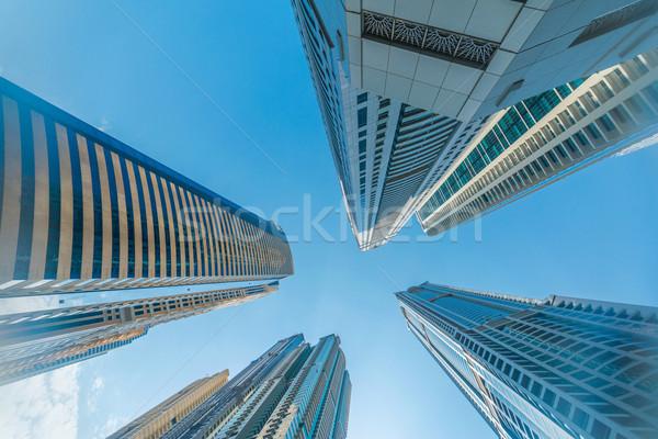 Dubaï marina gratte-ciel eau bâtiment Photo stock © Elnur