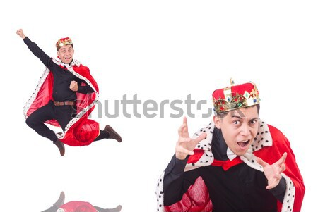 Executioner in red costume with axe against the gradient Stock photo © Elnur